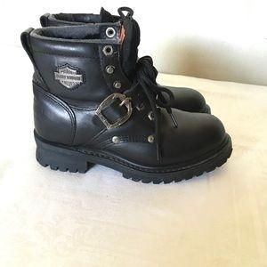 Hardly Davidson 6.5M  leather riding Moto boots